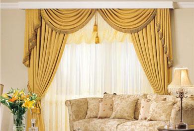 窗帘/客厅/金黄色